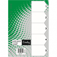 Croxley Pastel Board Index Tabs 1 - 5