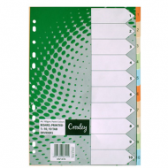 Croxley Pastel Board Index Tabs 1 - 10