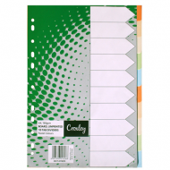 Croxley Rainbow Board Index Tabs 1-10