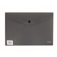 Croxley A4 PVC Envelope With Button Black