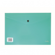 Croxley A4 PVC Envelope With Button Green