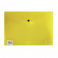 Croxley A4 PVC Envelope With Button Yellow