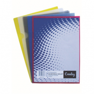 Croxley A4 Secretarial Folder Assorted Colours 12's