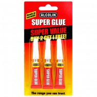 Alcolin Super Glue 3 x 3g