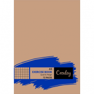 Croxley A5 72 Page Quad & Margin Exercise Book