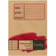 Croxley A5 48 Page  Feint & Margin Speckled Exercise Book