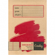 Croxley A4 72 Page Speckled Feint & Margin Exercise Book