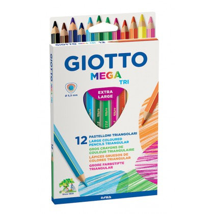 Giotto Stilnovo Tri Mega Colour Pencils 12's