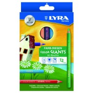 Lyra Colour Giants Colour Pencils 12's
