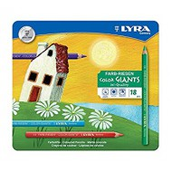 Lyra Colour Giants Colour Pencils 18's - In Tin