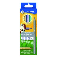 Lyra Colour Giants Metallic Colour Pencils 6's
