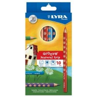 Lyra Groove Natural Grip Colour Pencils 10's