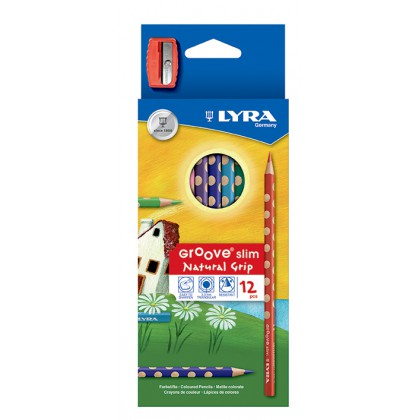 Lyra Groove Slim Natural Grip Colour Pencil 12's