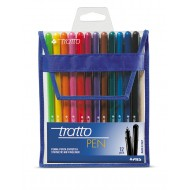 Tratto Pen FIneliner Assorted Colours 12's