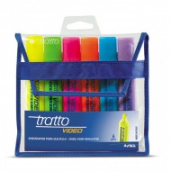 Tratto Video Highlighter Wallet of 6