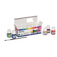 Giotto Poster Paint Pot + Paint Brush 12 x 25ml