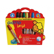 Giotto Be-bè Super Large Colour Pencils 6's