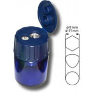 Lyra Double Hole Sharpener With Container