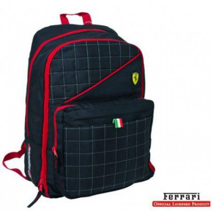 Ferrari Black Label Extensible Backpack With PC Holder