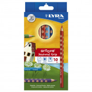 Lyra Groove Natural Grip Colour Pencil 10's
