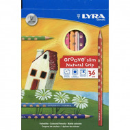 Lyra Groove Slim Natural Grip Colour Pencil 36's