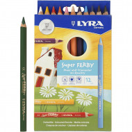 Lyra Super Ferby Colour Pencils 12's