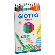 Giotto Mega Colour Pencils 12's