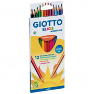 Giotto Elios Triangular Colour Pencils 12's