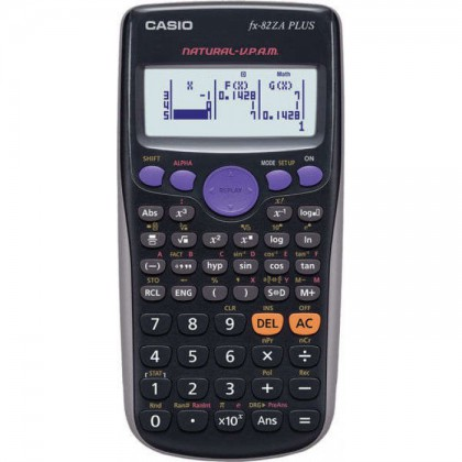 Casio FX-82ZA Plus Scientific Calculator Black