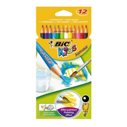 Bic Kids Aquarelle Colour Pencils 12's