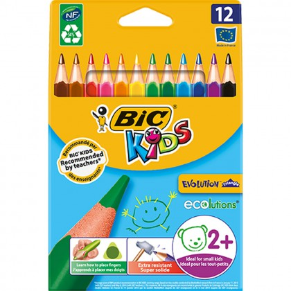 Bic Kids Evolution Colour Pencils 12's