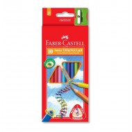Faber-Castell Junior Triangular Colour Pencils 10's