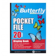 Butterfly A2 Display Folder 20 Pocket
