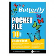 Butterfly A4 Display Folder 10 Pocket