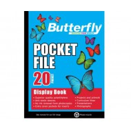 Butterfly A4 Display Folder 20 Pocket