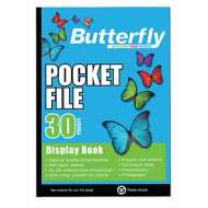 Butterfly A4 Display Folder 30 Pocket