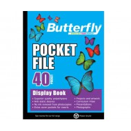 Butterfly A4 Display Folder 40 Pocket
