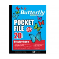 Butterfly A5 Display Folder 20 Pocket