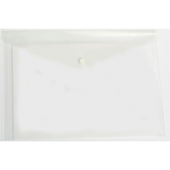 Nexx A4 Document Envelope with Press Stud Clear