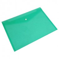 Nexx A4 Document Envelope with Press Stud Green