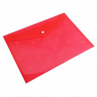 Nexx A4 Document Envelope with Press Stud Red