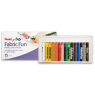 Pentel Fabric Fun Pastels 15's