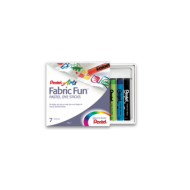 Pentel Fabric Fun Pastels 7's