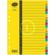 Bantex A4 Board Index Tabs Assorted Colours A -Z