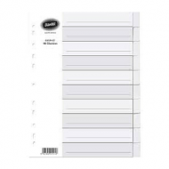 Bantex A4 Board Index Tabs White - 10 Tabs