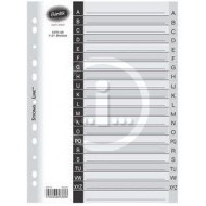 Bantex A4 Board Index Tabs White A-Z