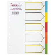 Nexx A4 Board Index Tabs Assorted Colours - 5 Tabs