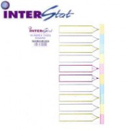 Nexx A4 Board Index Tabs Assorted Colours - 10 Tabs