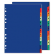 Nexx A4 PVC Index Tabs Numbered 1-10
