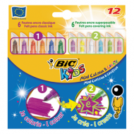 Bic Kids Mini Colour & Create Felt Tip Pens 12's